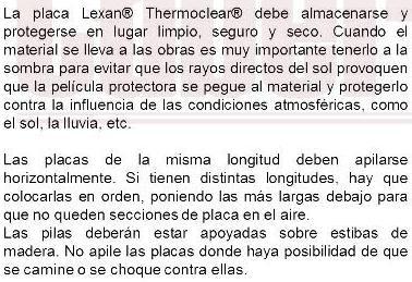 Descripcion lexan thermoclear